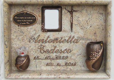 Lastra singola Granito Ivory Brown Vezzani Collezione Uffizi Firenze