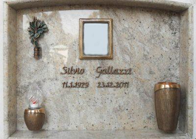Lastra singola Granito kashmir White Lasef Serie Inferno Strassacker scritte