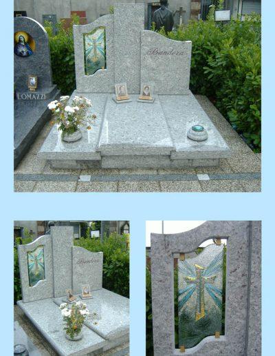 Borsano monumento vetro laterale granito Moon White W