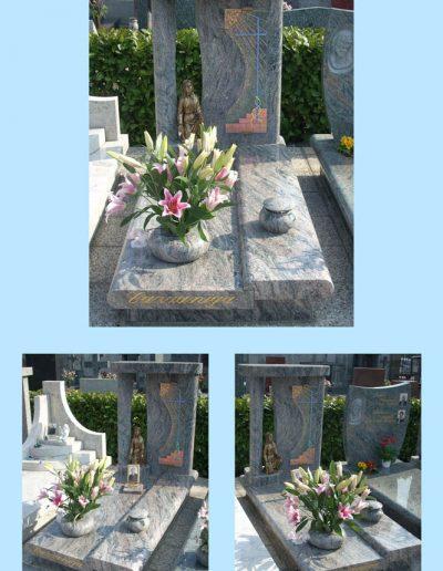Borsano monumento statua Madonna granito Verde Marina W